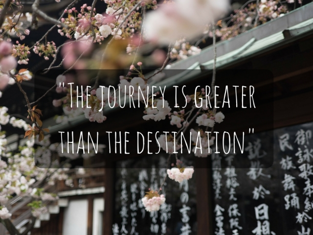 The journey is greater than the destination
