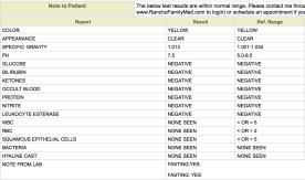 Urine Analysis